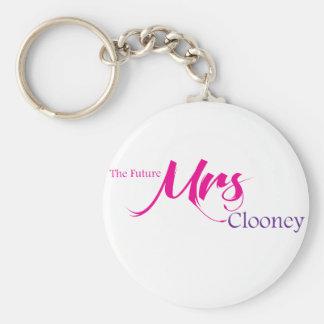La señora futura Clooney Llavero Redondo Tipo Pin