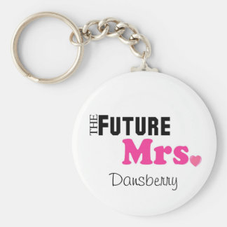 La señora futura Custom Keychain Llavero
