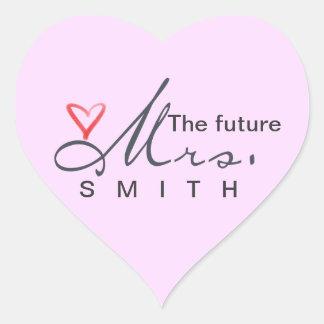 ¡La señora futura - modifique sus los propios para Pegatina En Forma De Corazón