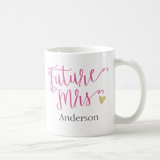 La señora futura personalizada el | Novia-a-Es Taza De Café