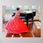 La señora In Red Impresiones