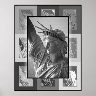 La señora Liberty del arte pop Póster