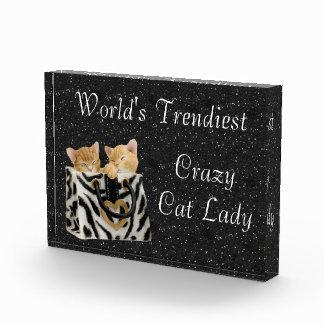 La señora loca más de moda Award del gato del