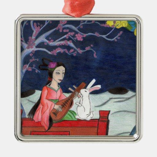 La señora Ornament de la luna Ornamentos De Navidad