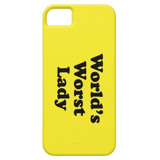La señora peor del mundo iPhone 5 funda