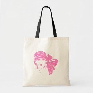 La señora rosada forma el TOTE de las COMPRAS del  Bolsa De Mano
