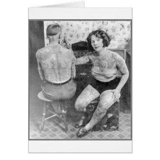 La señora Tattoo Artist Tarjeta De Felicitación