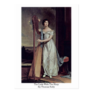 La señora With The Harp By Thomas Sully Postal