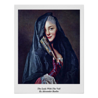 La señora With The Veil By Alexander Roslin Póster