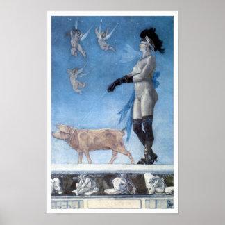 La señora y el cerdo (Pornokrates) Póster
