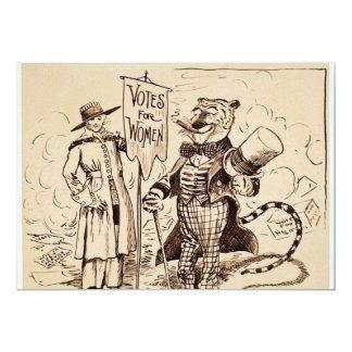 """La señora y el tigre de Clifford K. Berryman Invitación 5"""" X 7"""""""