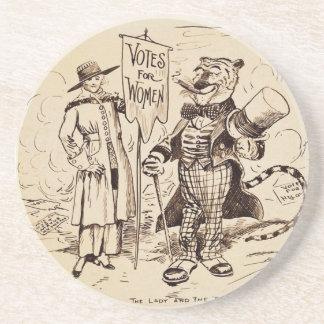 La señora y el tigre de Clifford K. Berryman Posavasos Personalizados