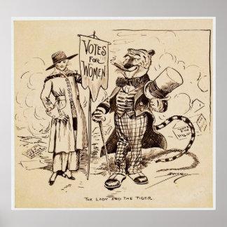 La señora y el tigre de Clifford K. Berryman Póster
