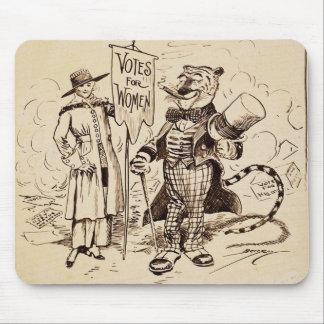 La señora y el tigre de Clifford K. Berryman Tapetes De Ratón