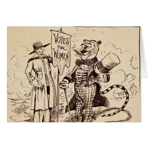 La señora y el tigre de Clifford K. Berryman Tarjeton