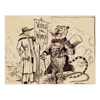 La señora y el tigre de Clifford K. Berryman Tarjetas Postales