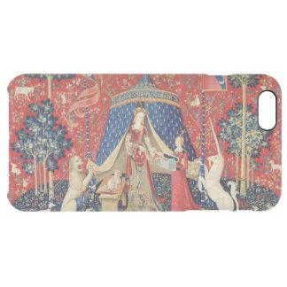 """La señora y el unicornio: """"A mi solamente desire Funda Clear Para iPhone 6 Plus"""