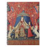 La señora y el unicornio: 'A mi solamente desire Libro De Apuntes Con Espiral