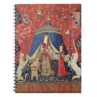 La señora y el unicornio: 'A mi solamente desire Spiral Notebooks