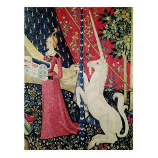 """La señora y el unicornio: """"A mi solamente desire Postales"""