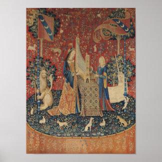 La señora y el unicornio: 'Hearing Poster