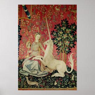 La señora y el unicornio: 'Sight Póster