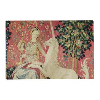 La señora y el unicornio: 'Sight Tapete Individual