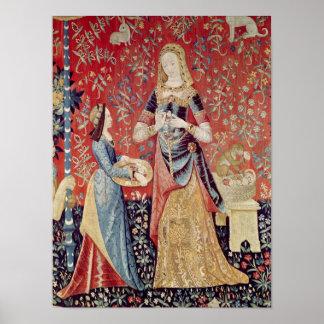 La señora y el unicornio: 'Smell Póster