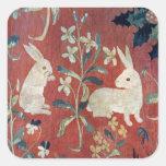 La señora y el unicornio: 'Taste Calcomanía Cuadradas Personalizadas