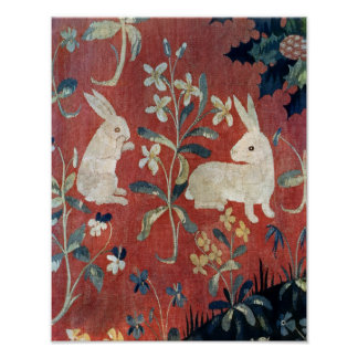 La señora y el unicornio: 'Taste Póster
