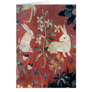 La señora y el unicornio: 'Taste Tarjeta De Felicitación