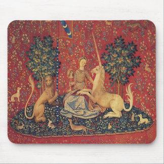La señora y el unicornio: Vista Alfombrillas De Ratones
