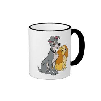 La señora y el vagabundo se unen Disney Tazas De Café