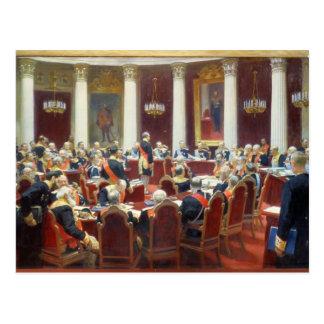 La sentada ceremonial del Consejo Estatal Tarjetas Postales