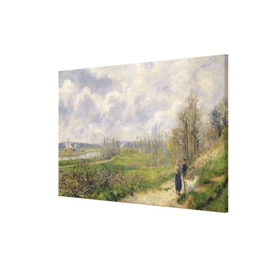 La Sente du Chou, near Pontoise, 1878 Canvas Print