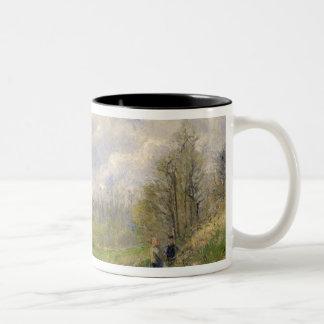 La Sente du Chou, near Pontoise, 1878 Two-Tone Coffee Mug