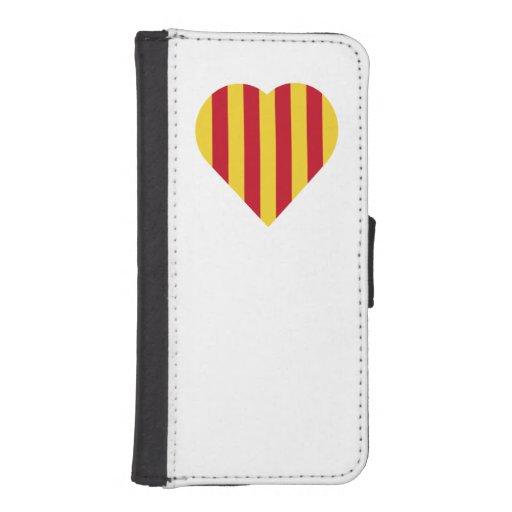 La Senyera heart iPhone SE/5/5s Wallet Case