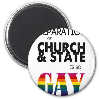 La separación de iglesia y de estado es tan GAY Iman Para Frigorífico