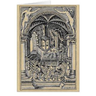 La sepia de piedra del filósofo tarjeta de felicitación
