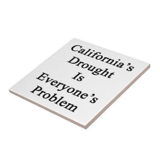 La sequía de California es cada una problema Azulejo Cuadrado Pequeño