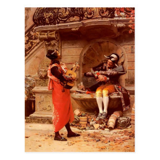 La serenata de Jean Jorte Vibert Postales