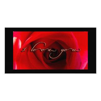 La serie del amor tarjeta fotografica personalizada