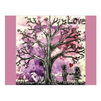 La serie del árbol: Amor Postales