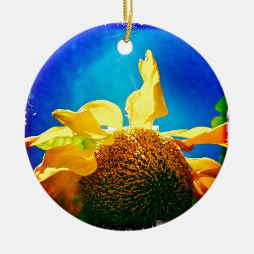 La serie eléctrica del girasol de productos ornamento de navidad