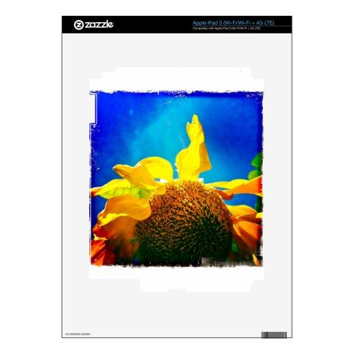 La serie eléctrica del girasol de productos iPad 3 skin