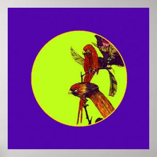 La serie SqCircl Púrpura-Amarillo del artista del Posters