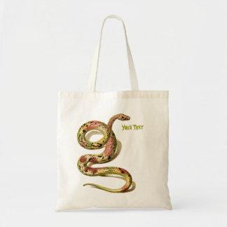 La serpiente añade la su bolsa de asas del texto
