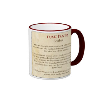 La serpiente céltica tazas de café