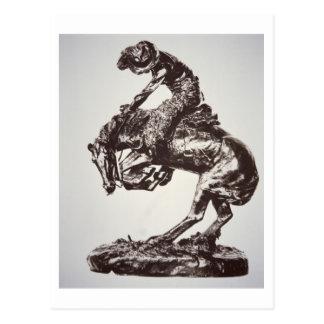 La serpiente de cascabel, 1905 (bronce) (foto de b tarjetas postales
