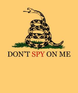 La serpiente de Gadsden no pisa - espíe en mí Camisetas